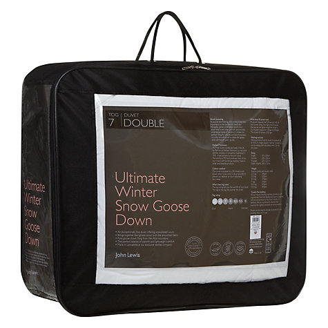 Buy John Lewis Ultimate Winter Snow Goose Down Duvet, 7 Tog Online at johnlewis.com