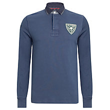 Buy Tommy Hilfiger Slim Fit Lars Rugby Shirt, Insignia Blue Online at johnlewis.com