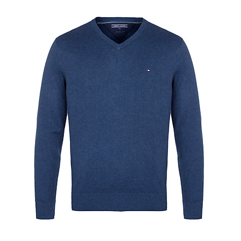 Buy Tommy Hilfiger Pima V-Neck Jumper Online at johnlewis.com
