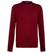 Buy Hackett London Crew Neck Jumper, Red Online at johnlewis.com
