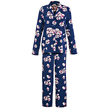 Buy John Lewis Louisa Pyjama Set, Navy Online at johnlewis.com