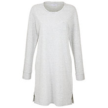 Buy John Lewis Stripe Nightdress, Grey Online at johnlewis.com