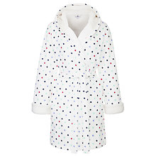 Buy John Lewis Star Print Robe, White / Multi Online at johnlewis.com