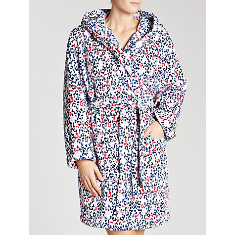 Buy John Lewis Animal Hooded Fleece Robe, Multi Online at johnlewis.com