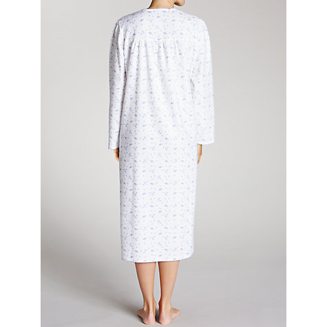 Buy John Lewis Floral Nightdress, White / Multi Online at johnlewis.com