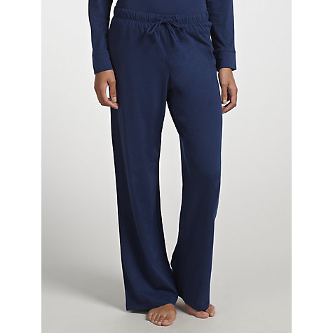 Buy John Lewis Long Pyjama Bottoms, Navy Online at johnlewis.com