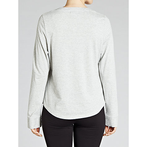 Buy John Lewis Stripe Pyjama Top, Grey Online at johnlewis.com