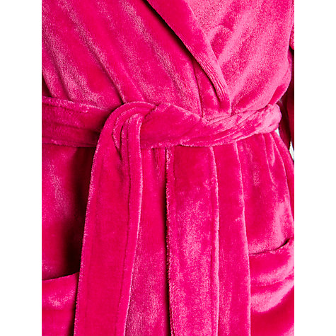 Buy John Lewis Short Hooded Fleece Robe Online at johnlewis.com
