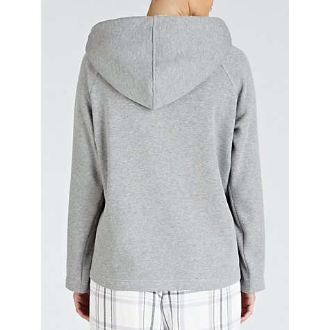 Buy John Lewis Zipped Hooded Top, Grey Marl Online at johnlewis.com