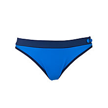 Buy Huit Smarty Band Detail Bikini Briefs, Azure Online at johnlewis.com