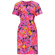 Buy Whistles Victoria Floral Dress, Pink/Multi Online at johnlewis.com