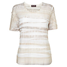 Buy Phase Eight Layered T-Shirt, Neutral Online at johnlewis.com