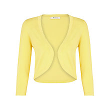 Buy Precis Petite Picot Edged Knitted Shrug, Lemon Online at johnlewis.com
