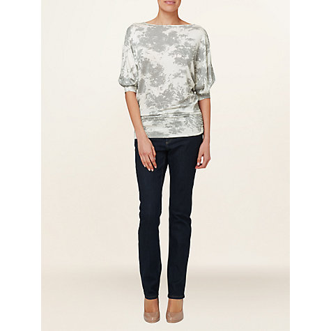 Buy Phase Eight Mika Printed Top, Grey/Ivory Online at johnlewis.com