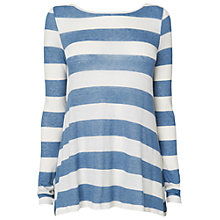 Buy Phase Eight Striped Cashmere Blend Top, Atlantic/Ivory Online at johnlewis.com