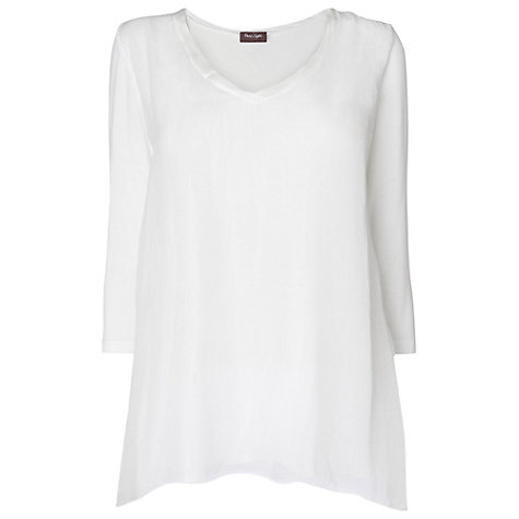 Buy Phase Eight Made in Italy Silk Chiffon Tunic Top, White Online at johnlewis.com