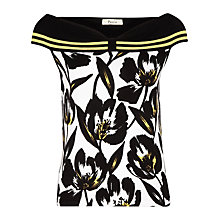 Buy Precis Petite Tulip Printed Bardot Knitted Top, Multi Online at johnlewis.com