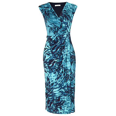 Buy Windsmoor Palm Print Dress, Blue Online at johnlewis.com