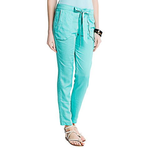 Buy Mango Bow Knot Baggy Trousers, Green Online at johnlewis.com