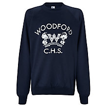 Buy Woodford County High School Girls' Sweatshirt, Navy Blue Online at johnlewis.com