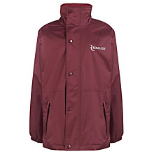 Buy The Red Maids' Junior School Girls' Waterproof Jacket, Maroon Online at johnlewis.com