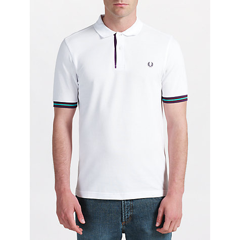 Buy Fred Perry Taped Detail Slim Fit Polo Shirt Online at johnlewis.com