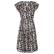 Buy Jigsaw Ink Smudge Spot Silk Dress, Ink Online at johnlewis.com