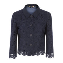 Buy Jigsaw Circle Broderie Jacket, Navy Online at johnlewis.com