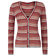 Buy Jigsaw Mini Multi Stripe Cardigan, Red Online at johnlewis.com