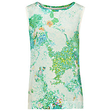 Buy Reiss Printed Silk Vest Top, Multi Online at johnlewis.com