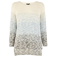Buy Warehouse Marl Striped Jumper, Blue Online at johnlewis.com