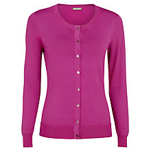 Buy Planet Round Neck Cardigan, Pink Online at johnlewis.com