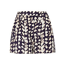 Buy Jigsaw Ink Spot Silk Shorts, Ink Online at johnlewis.com