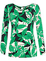 allegra by Allegra Hicks Leaves Print Top, Green