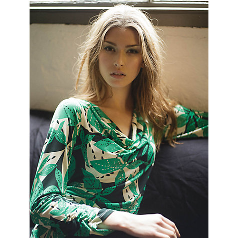 Buy allegra by Allegra Hicks Leaves Print Top, Green Online at johnlewis.com