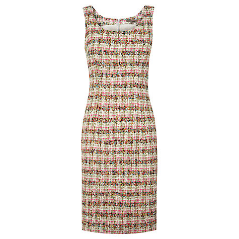 Buy Jigsaw Tweed Dress, Pink Online at johnlewis.com