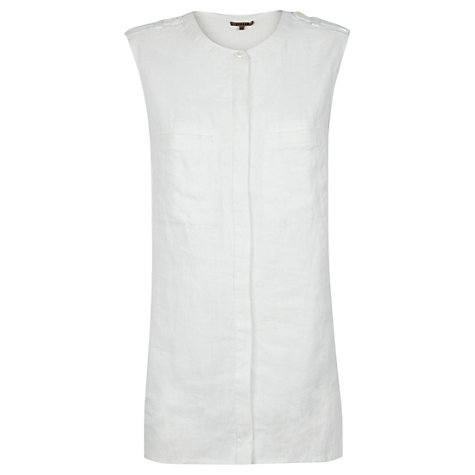 Buy Jigsaw Sleeveless Linen Pocket Shirt Online at johnlewis.com