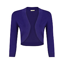 Buy Planet Purple Fine Knit Shrug, Purple Online at johnlewis.com