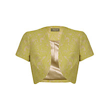 Buy Alexon Jacquard Bolero, Green Online at johnlewis.com