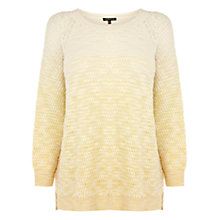 Buy Warehouse Tuck Stitch Jumper, Yellow Online at johnlewis.com