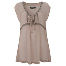 Buy Mint Velvet Beaded Tunic Top Online at johnlewis.com