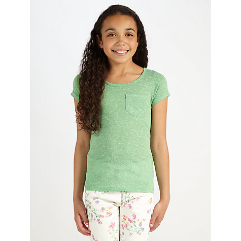 Buy Loved & Found Girls' Short Sleeve Pocket Top Online at johnlewis.com