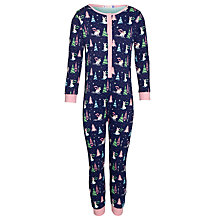 Buy John Lewis Girl Rabbit Onesie, Multi Online at johnlewis.com