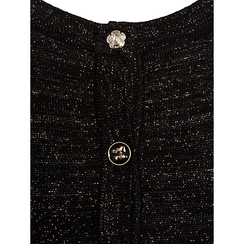 Buy Yumi Girl Bow Detail Cardigan, Black Online at johnlewis.com