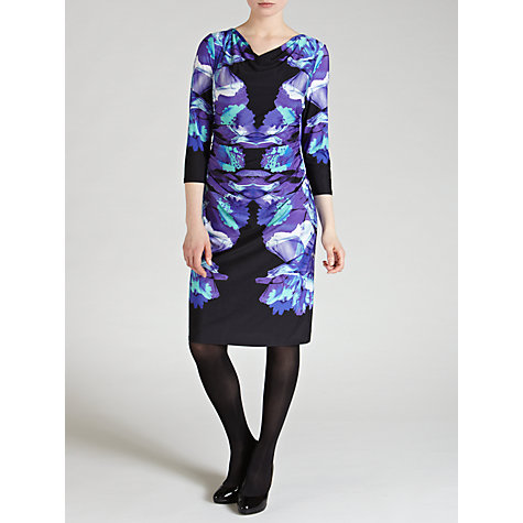 Buy COLLECTION by John Lewis Helena Floral Jersey Dress, Blue Online at johnlewis.com