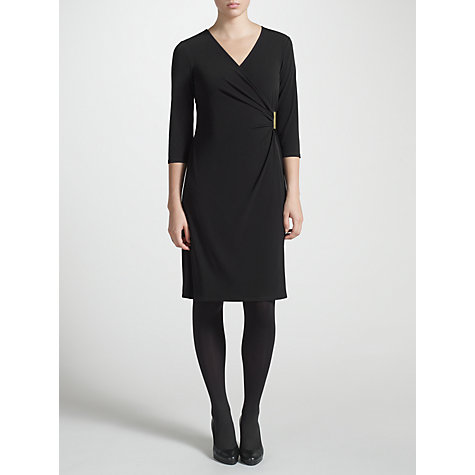 Buy COLLECTION by John Lewis Alana Wrap Dress, Black Online at johnlewis.com