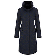 Buy COLLECTION by John Lewis Abbey Jacquard Coat, Black/ Blue Online at johnlewis.com
