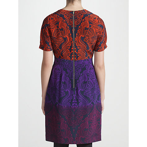 Buy COLLECTION by John Lewis Kyra Damask Dress, Purple/Red Online at johnlewis.com