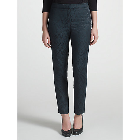 Buy COLLECTION by John Lewis Lucy Jacquard Trousers, Black/Blue Online at johnlewis.com