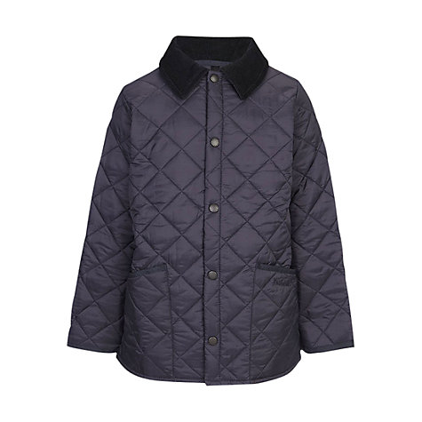 Buy Barbour Boys' Quilted Liddlesdale Jacket, Navy Online at johnlewis.com